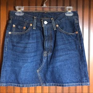 New without tags Levi Strauss jean skirt size 25